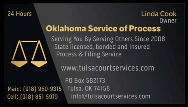 Oklahoma Service of Process – 918-960-9315